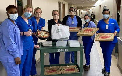 Tatje Insurance donates lunch to hospital floor nurses