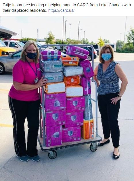Tatje lending a helping hand to Lake Charles residents